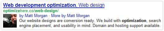 Matt Morgan - Authorship Display in Search Results