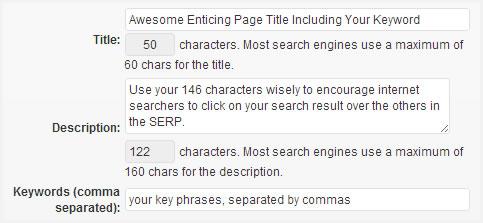 Custom page title & meta data