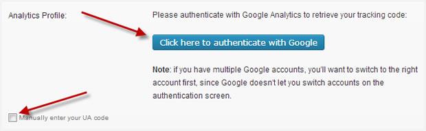 Authenticate with Google Analytics