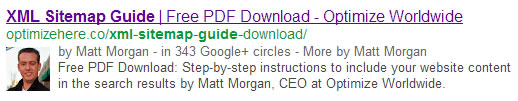 Google Authorship Pic in SERP