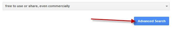 Advanced search button