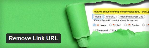 Remove Link URL plugin