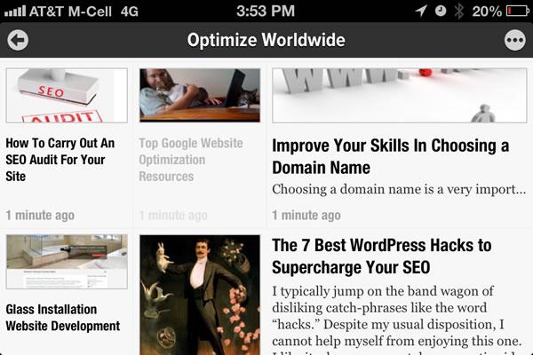 RSS Reader Mobile App