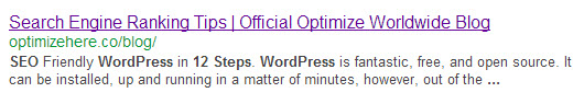 SERP showing guest blog excerpt