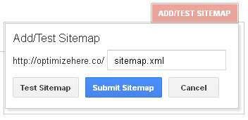 Google Webmaster Tools - Add/Test Sitemap