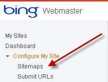 Bing Webmaster Tools - Sitemaps