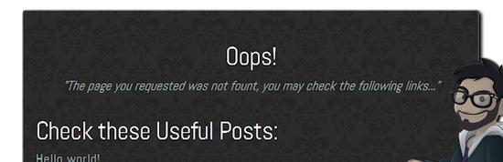 Custom 404 plugin for WordPress