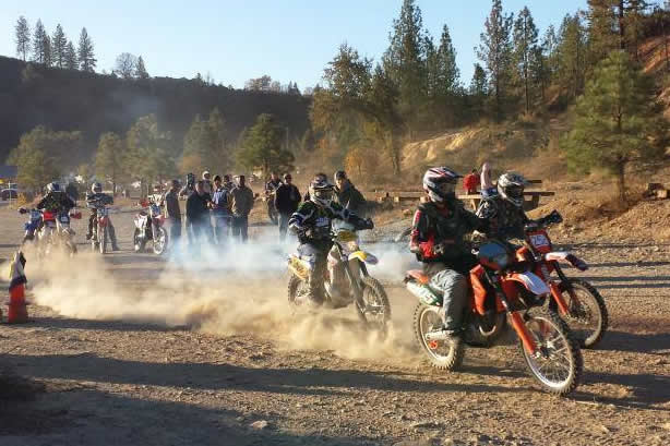 Matt Morgan holeshot at the 2013 Buckhorn Enduro