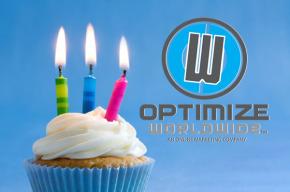 Happy Birthday Optimize Worldwide