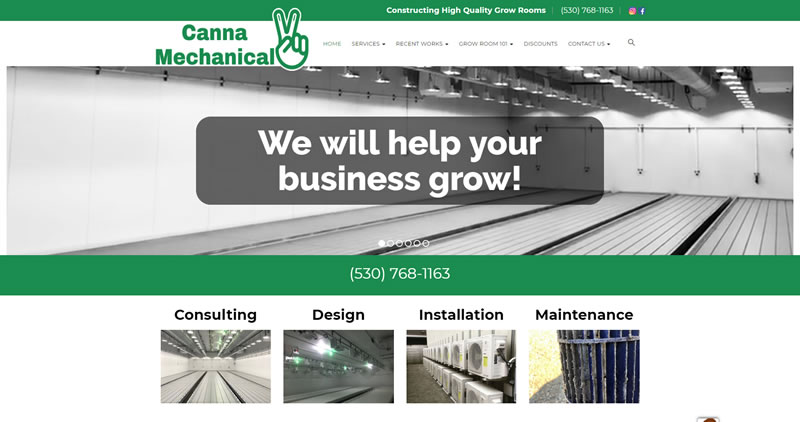 Canna Mechanical - Website Design by Optimize Worldwide