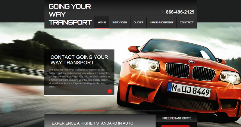 Going Your Way Transport - Website Design by Optimize Worldwide