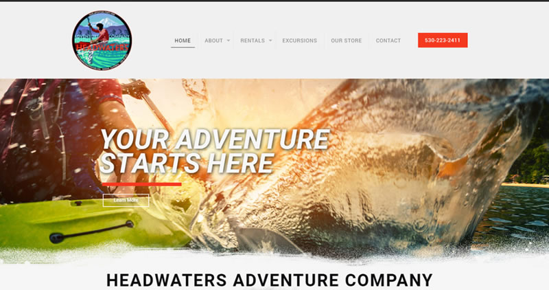 Headwaters Adventure - Website Design by Optimize Worldwide