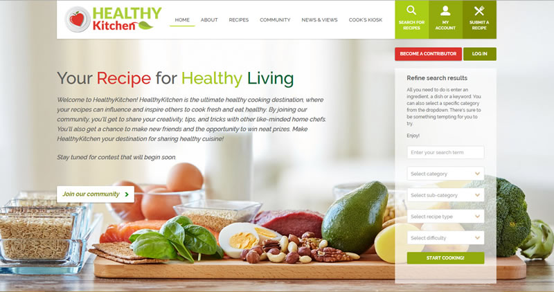 Healthy Kitchen - Website Design by Optimize Worldwide