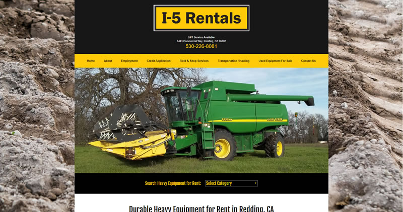 I5 Rentals - Website Design by Optimize Worldwide