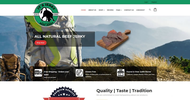 It's Jerky - Website Design by Optimize Worldwide