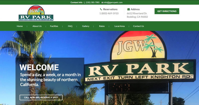 RV Park - Website Design by Optimize Worldwide