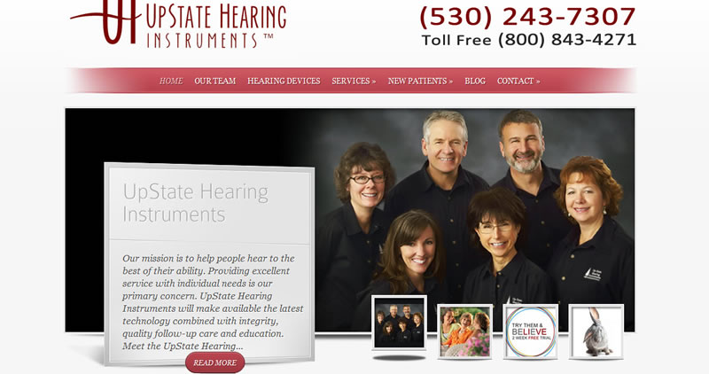 UpState Hearing - Website Design by Optimize Worldwide