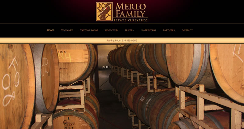 Merlo Vineyards - Website Design by Optimize Worldwide