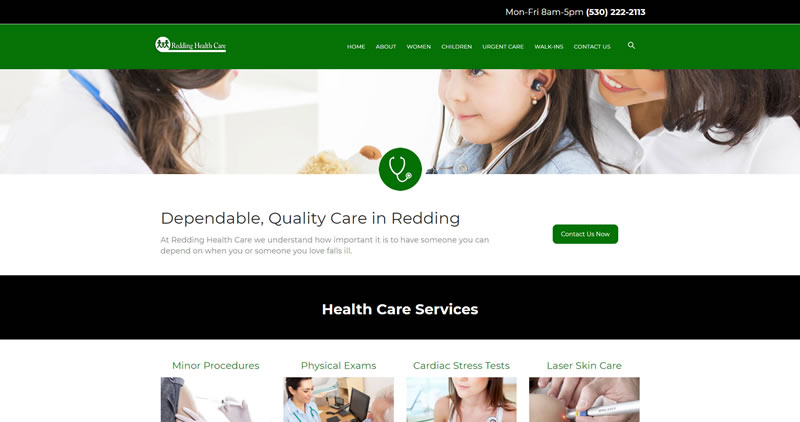 Redding Health Care - Website Design by Optimize Worldwide