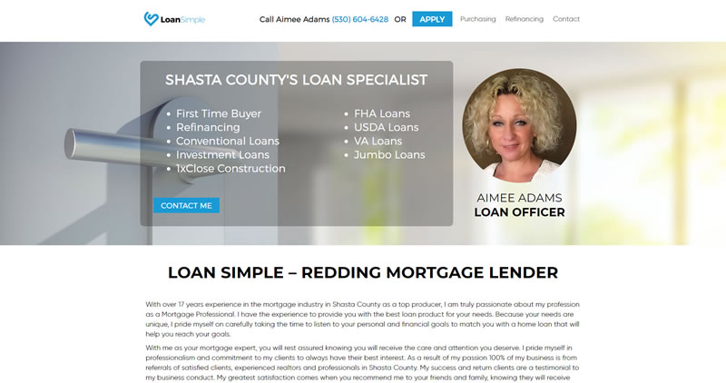 Shasta County Loans - Website Design by Optimize Worldwide