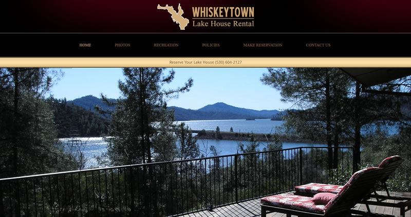 Whiskeytown Lakehouse Rental - Website Design by Optimize Worlwide