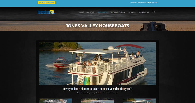 Houseboats.com - Website Design by Optimize Worldwide
