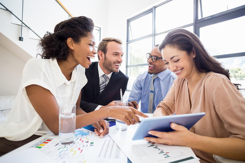 digital marketing team plans client ads