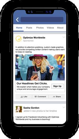 Facebook Advertising on Phone