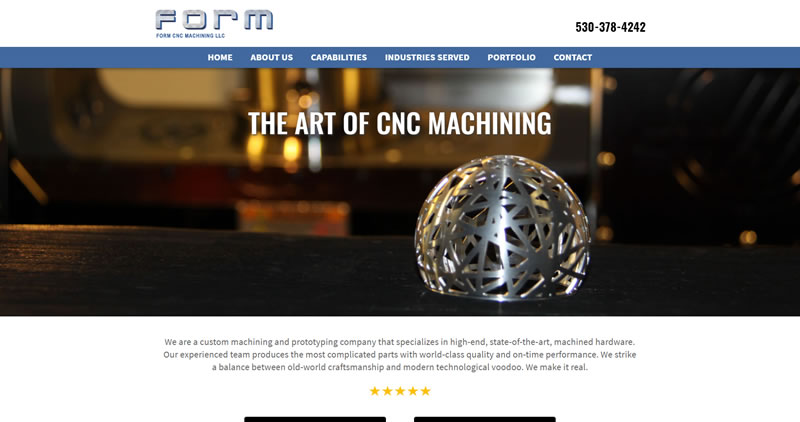 FormCNC.net - Website Design by Optimize Worldwide