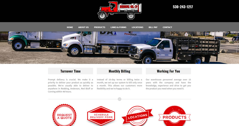 ReddingOilCompany.com - Website Design by Optimize Worlwide