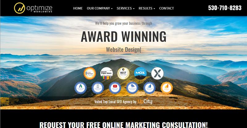Northern California's Award Winning Website Design