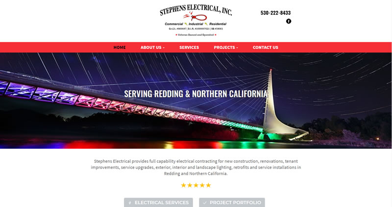 StephensElectricalInc.com - Website Design by Optimize Worldwide