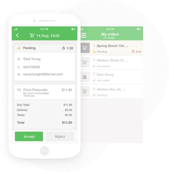 Mobile App Online Order Administration