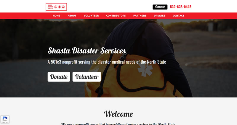 ShastaDisaster.org - Website Design by Optimize Worldwide
