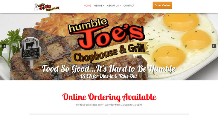 HumbleJoes.com - Website Design by Optimize Worldwide