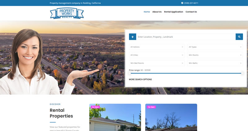 PropertyWorksRealty.com - Website Design by Optimize Worldwide by Optimize