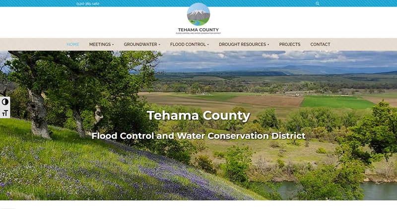 TehamaCountyWater.org - Website Design by Optimize Worldwide