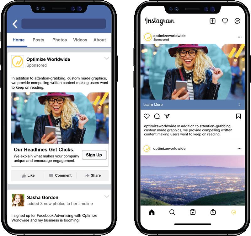 Facebook & Instagram Advertising on Mobile Phones