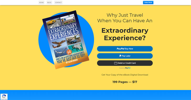 Extraordinary Experiences eBook - Website Design by Optimize Worldwide
