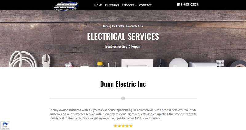 DunnElec.com - Website Design by Optimize Worldwide