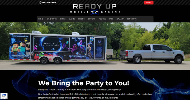 Ready Up Mobile Gaming Truck - Website Design by Optimize Worldwide